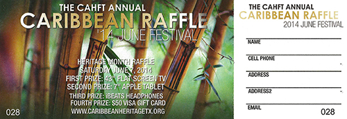 2014 Caribbean American Heritage Month Festival Raffle
