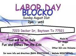 Labor Day Blocko in Baytown